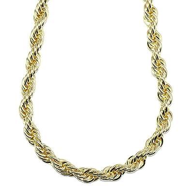 Mega Jewellery Gold Plated RUN DMC HIP HOP Rope Chain b5fad4b4e477