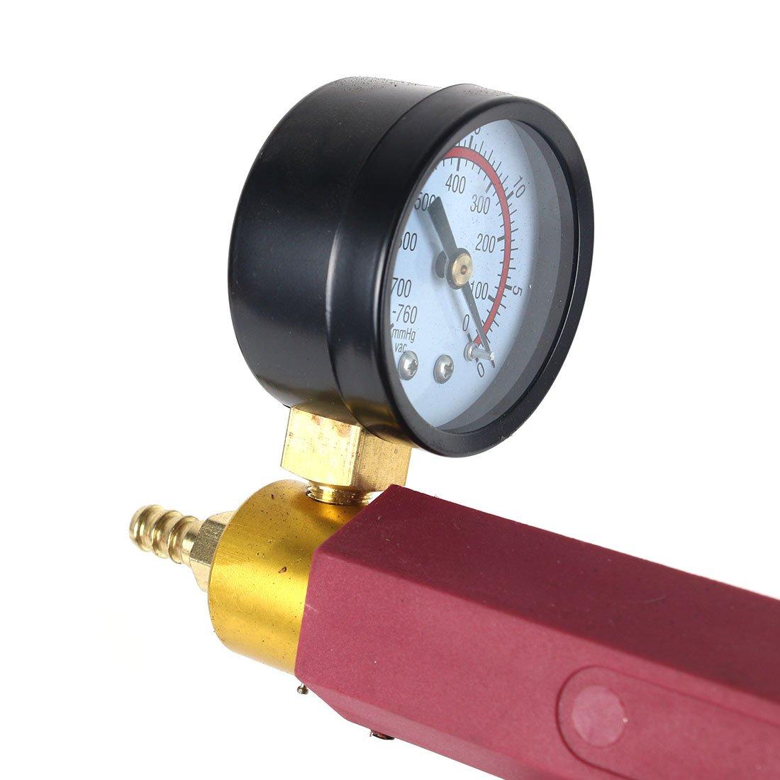 13PC Hand Held Vacuum Pressure Pump Tester Kit Brake Fluid Bleeder Car Motorbike Bleeding Set by Copap (Image #5)