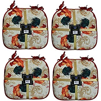 Amazon Com 4 Pc Cover Set Country Rooster Kitchen Cushion