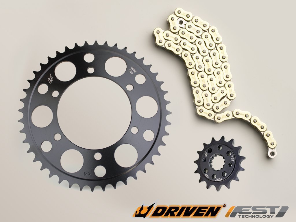 1998-2001 Driven Racing Gold RK 530MAXX Chain and Evo-Spec Sprocket Kit for Honda VFR 800