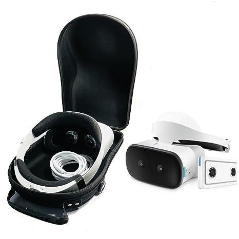 e42255ca248 Amazon.com  Esimen Hard Travel Case for Lenovo Mirage Solo VR Headset  Lenovo Mirage Camera and Controllers Accessories Carry Bag Protective  Storage Box ...