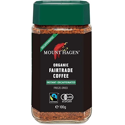 マウントハーゲン オーガニック フェアトレード カフェインレスインスタントコーヒー100g