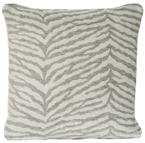 Zebra Design Cushion Cover Chenille Grey Decorative Throw Pillow Case Osborne and Little Fabric (Chenille Zebra Fabric)