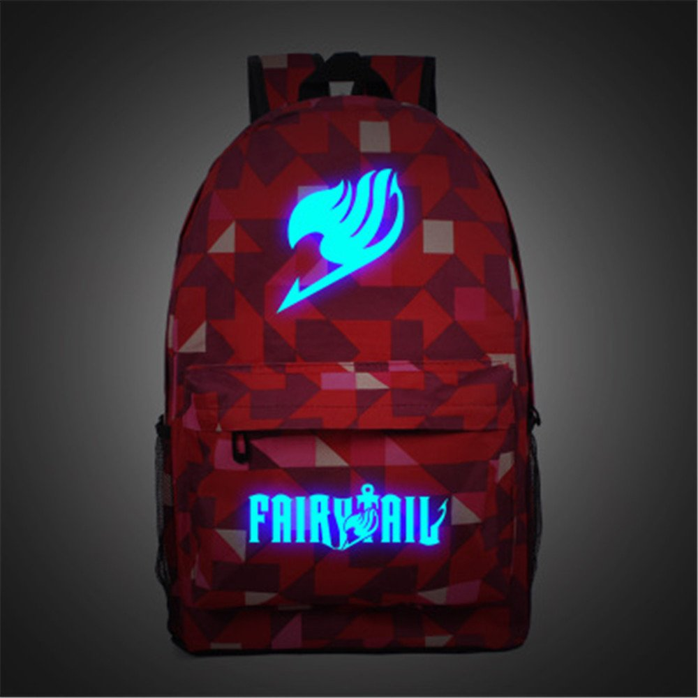 1f1a9042de5e 50%OFF Siawasey Anime Fairy Tail Cosplay Luminous Bookbag Backpack ...