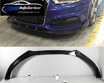Modello in carbonio Qii lu Paraurti anteriore labbro per spoiler anteriore S3 Style Spoiler per A3 S-Line 8V 2017-2018