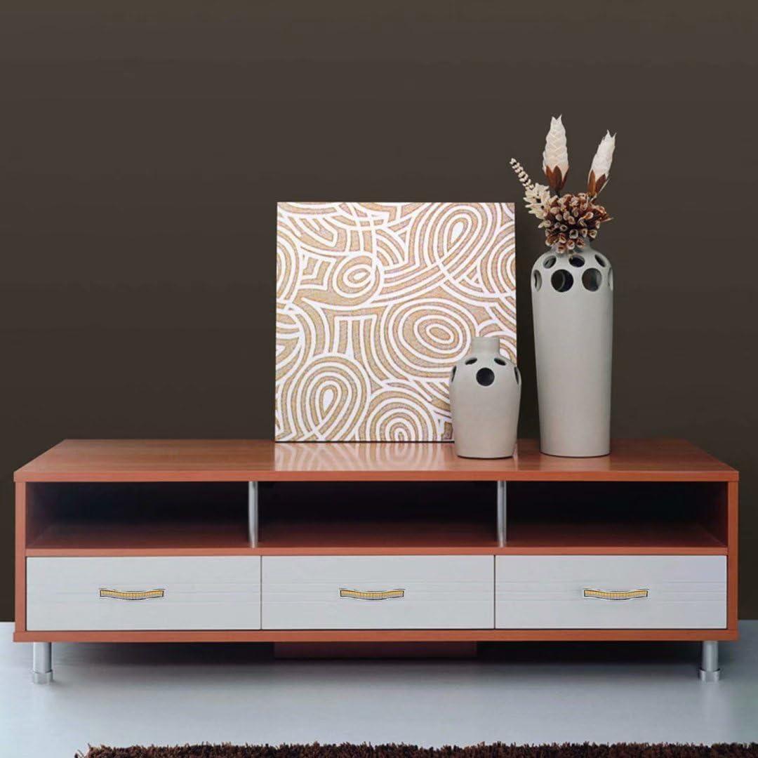 Creatwls dormitorio muebles 5 pomos para muebles de armario con tirador de cristales de imitaci/ón para decoraci/ón de ba/ño aleaci/ón de zinc cocina