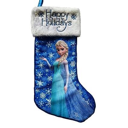 disney frozen elsa happy holidays christmas stocking blue