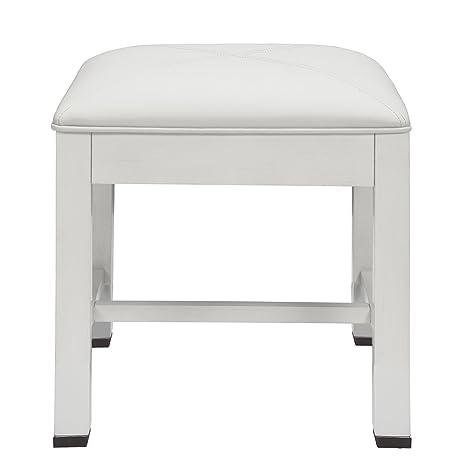 Super Amazon Com Decolav 5229 Wht Cameron 18 Inch Vanity Stool Evergreenethics Interior Chair Design Evergreenethicsorg