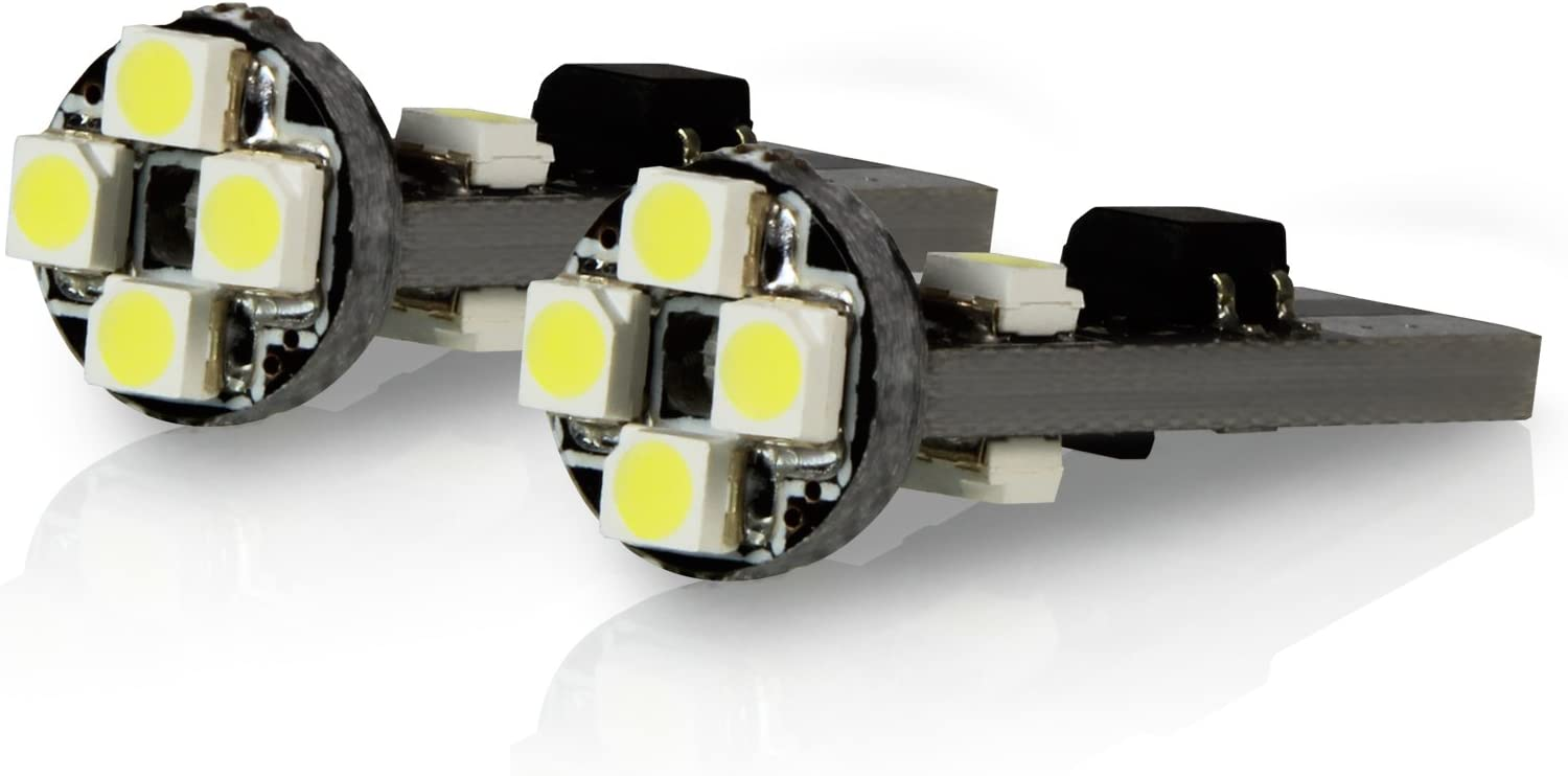 TGP T10 White 8 LED SMD Wedge Parking Light Bulbs Canbus Error Free 2008-2012 Compatible with Mercedes Benz C250 C300