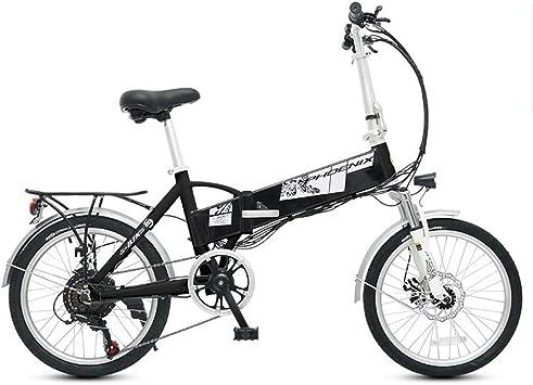 BNMZXNN Bicicleta eléctrica Plegable, Bicicleta Urbana de 20 ...