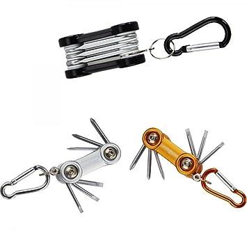 TrAdE shop Traesio® Mini destornilladores 6 puntas Torx plegable ...