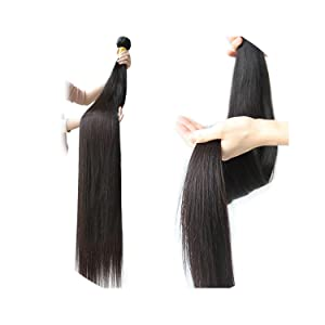 30 32 34 36 38 Inch 40 Inch Bundles Straight Peruvian Human Hair Weave Bundles Long Remy Hair Extensions 3 4 PC Hair Weft,12inches