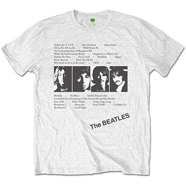 a5625cd80 Amazon.com: Rockoff Trade Beatles White Album Tracks Men's T-Shirt ...