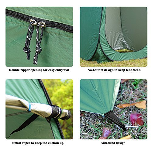 OUTFANDIA Pop up Camping Shower Tent,Waterproof Portable Toilet Changing Dressing Room Shelter with Carry Bag