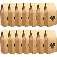 Caja de Dulces de Papel Kraft, 30 Piezas Caja de Papel Kraft de Regalo de Fiesta, Caja de Papel con Ventana Transparente…