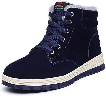 2018 Men/'s Winter Fur Warm Outdoor Non-slip Sneakers Suede High Top Snow Ankle