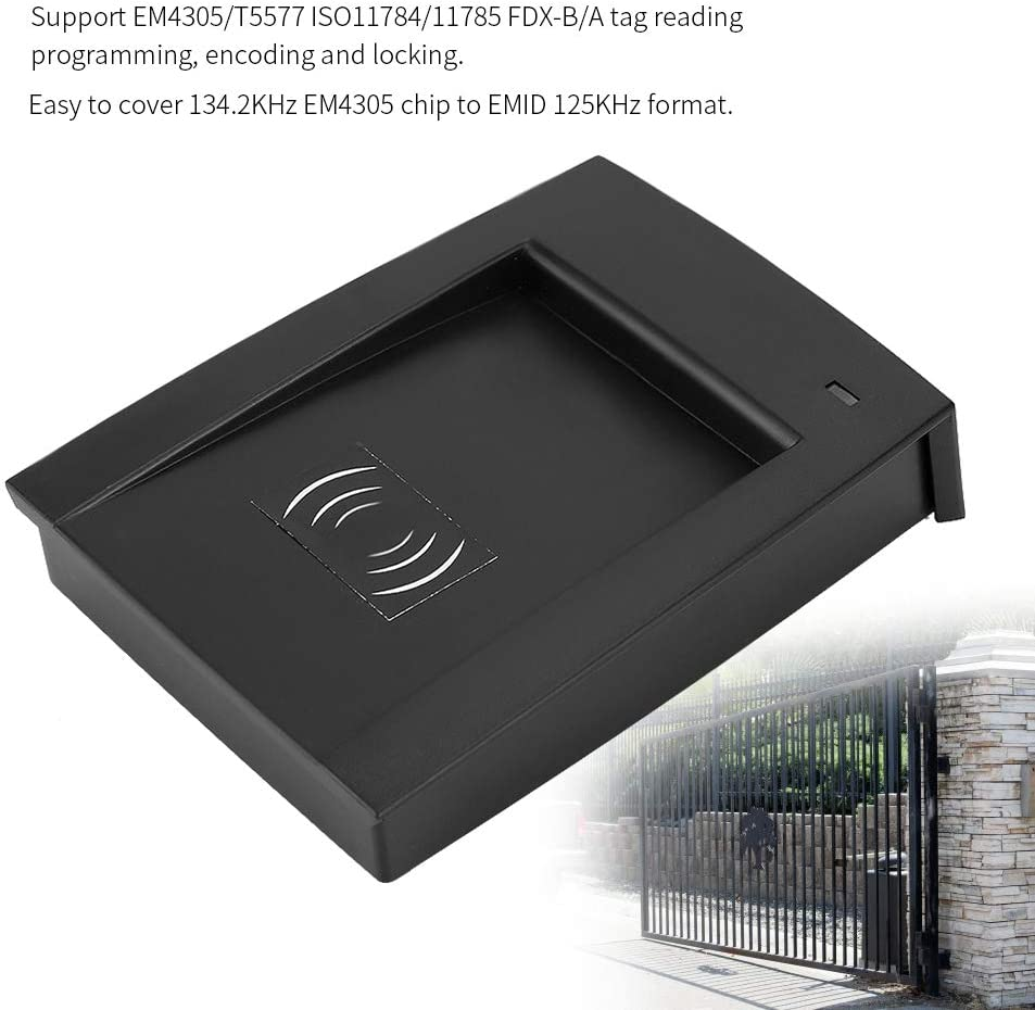 Zerone 125-134.2KHZ Portable RFID Reader Writer with LED USB for FDX-A FDX-B Chip