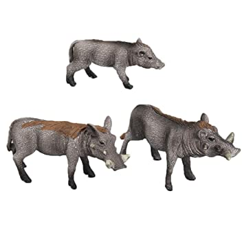NON Sharplace 3 Unids Modelo de Animal Salvaje de Jabalí en ...