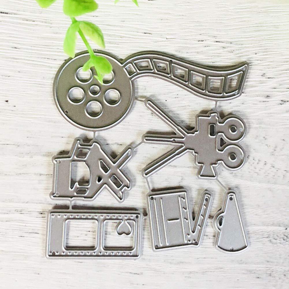 Jiacheng29 Cutting Die 6Pcs Photographie de lappareil Photo Film Metal Cutting Dies DIY Album Cartes Pochoir mod/èle