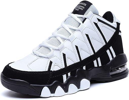 Hombres Calzado Deportivo High Top Hombre Gimnasio Zapatillas Deportivas OtoñO Invierno con Cordones Amortiguadores Zapatillas De Correr: Amazon.es: Zapatos y complementos