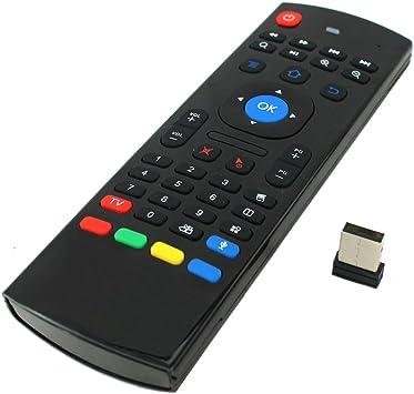 Yooyee MX3-M - Mando a distancia multifunción con mini teclado inalámbrico, 2,4 GHz, por infrarrojos, 3 gsensores, reconocimiento de voz, para Android TV Box IPTV HTPC: Amazon.es: Electrónica