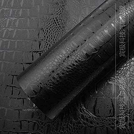 Crocodile PWM Leather Pattern PVC Adhesive Vinyl Film Sheet Decal Car Styling Body Wrap Motorcycle Truck Wrapping Foil Benzee