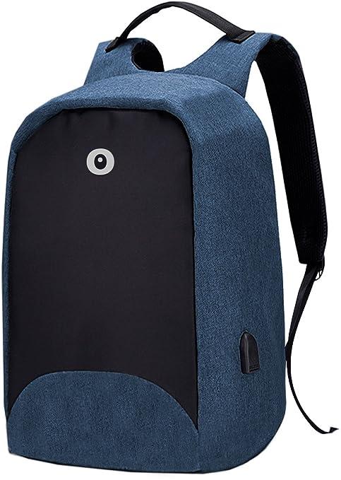 Toy Bags Mochila para Portátil Multifunción/Mochila para Laptop con Puerto USB, Azul