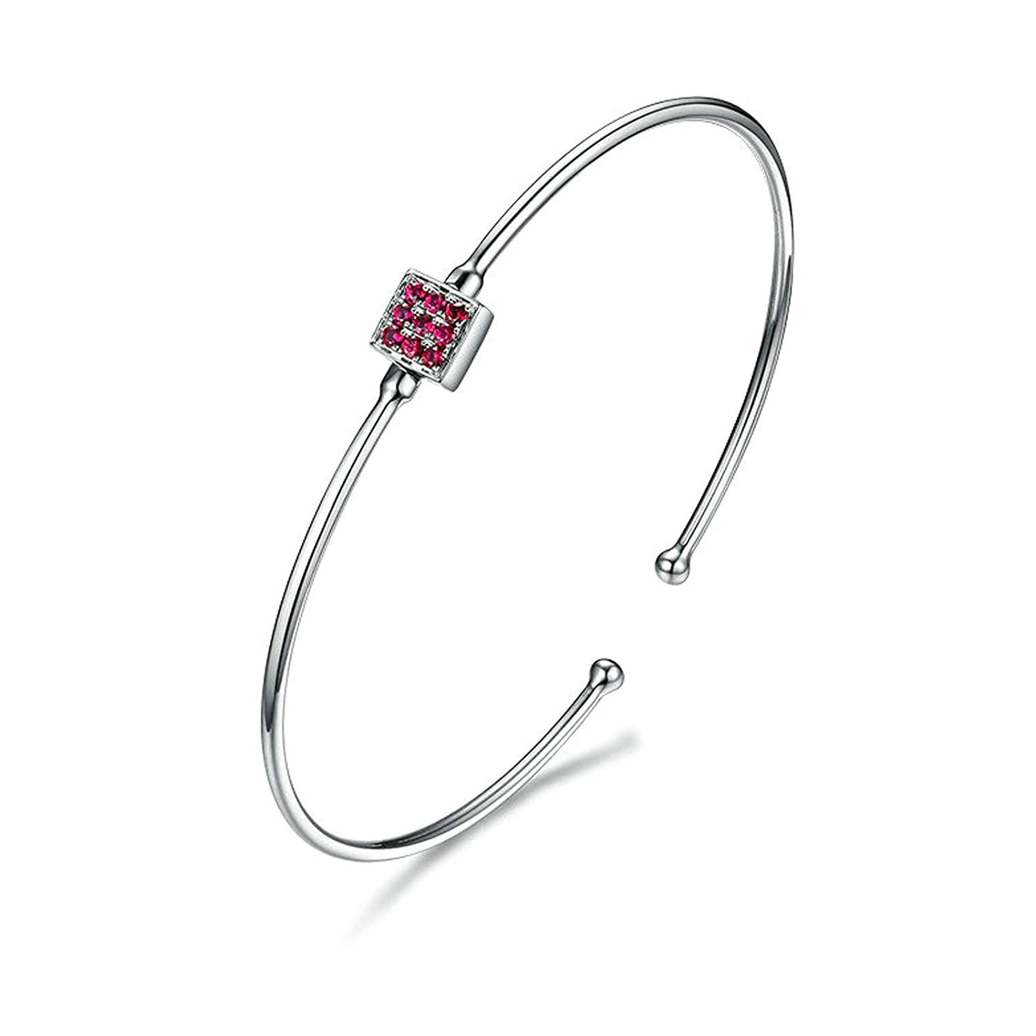 Aooaz Jewelry 18K White Gold Bracelets For Womens Rund Circle Party Holiday Link Bracelets