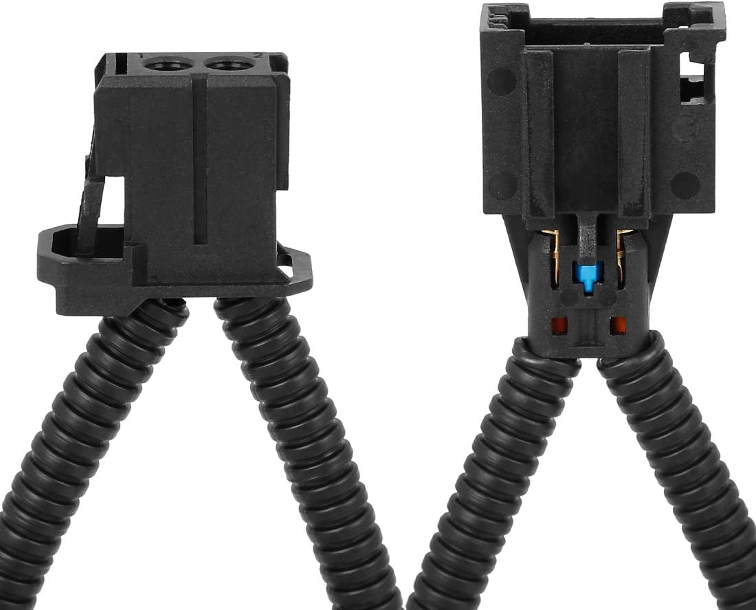 X AUTOHAUX 1 Set Car Fiber Optical Optic Loop Cable Bypass Connector Adaptor Male Female