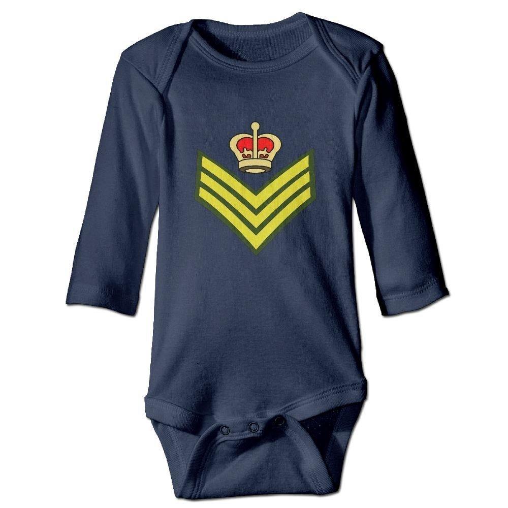 braeccesuit Baby Crown Badge Long Sleeve Romper Onesie Jumpsuit Bodysuit