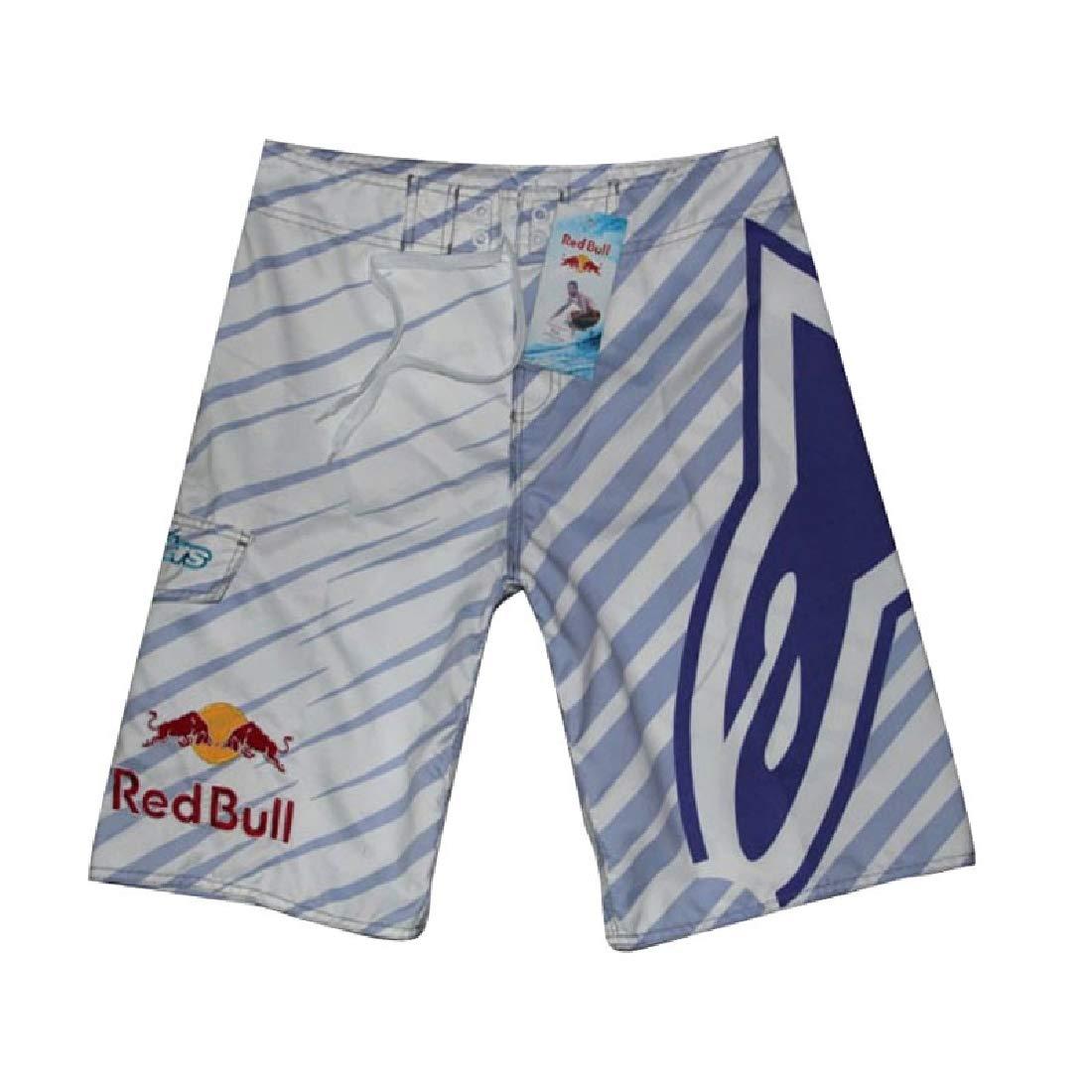 Vska Men Shorts Fitness Quick Dry Sport Casual Printing Beach Trousers