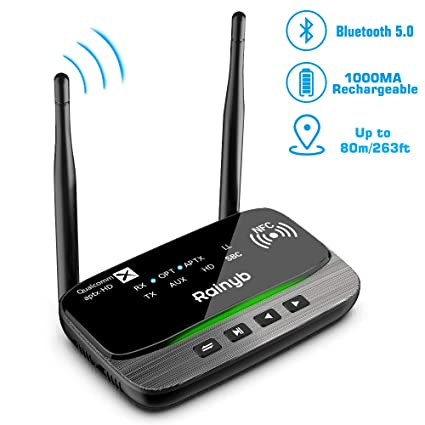 2 In 1 Bluetooth Wireless Audio Transmitter Receiver 4.2 Adapter Tv Launch GAGZ Accessori per auto