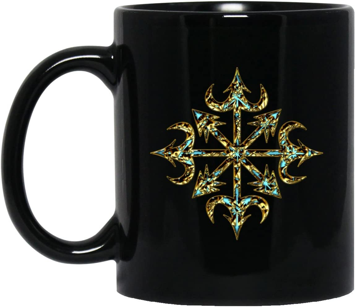 hadi mug chaos star symbol of chaos gold everything has meaning and magic power power symbol energy symbol perfect as a gift for scientist amazon ca home kitchen amazon ca