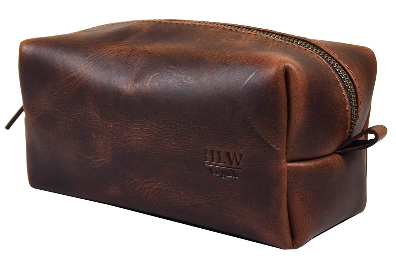66afa0260a Amazon.com   Leather Dopp Kit Men Toiletry Bag