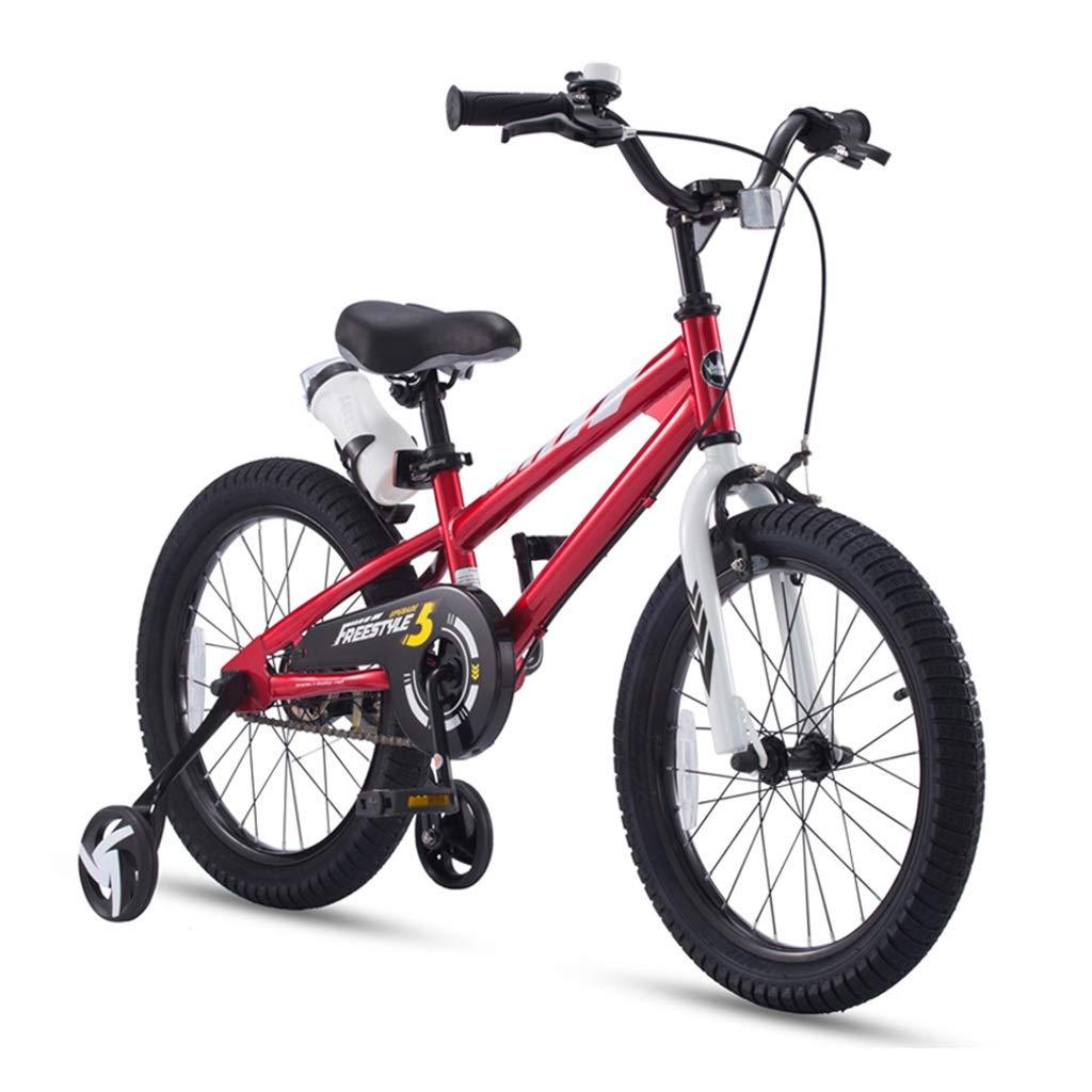 子供の自転車12、14、16インチ子供用自転車ビスタプリントガールバイク写真ガールバイク2-3-6-8歳の男の子の自転車子供向けギフト安全な子供用三輪車 (Color : Red, Size : 14inches) 14inches Red B07NVN49HL