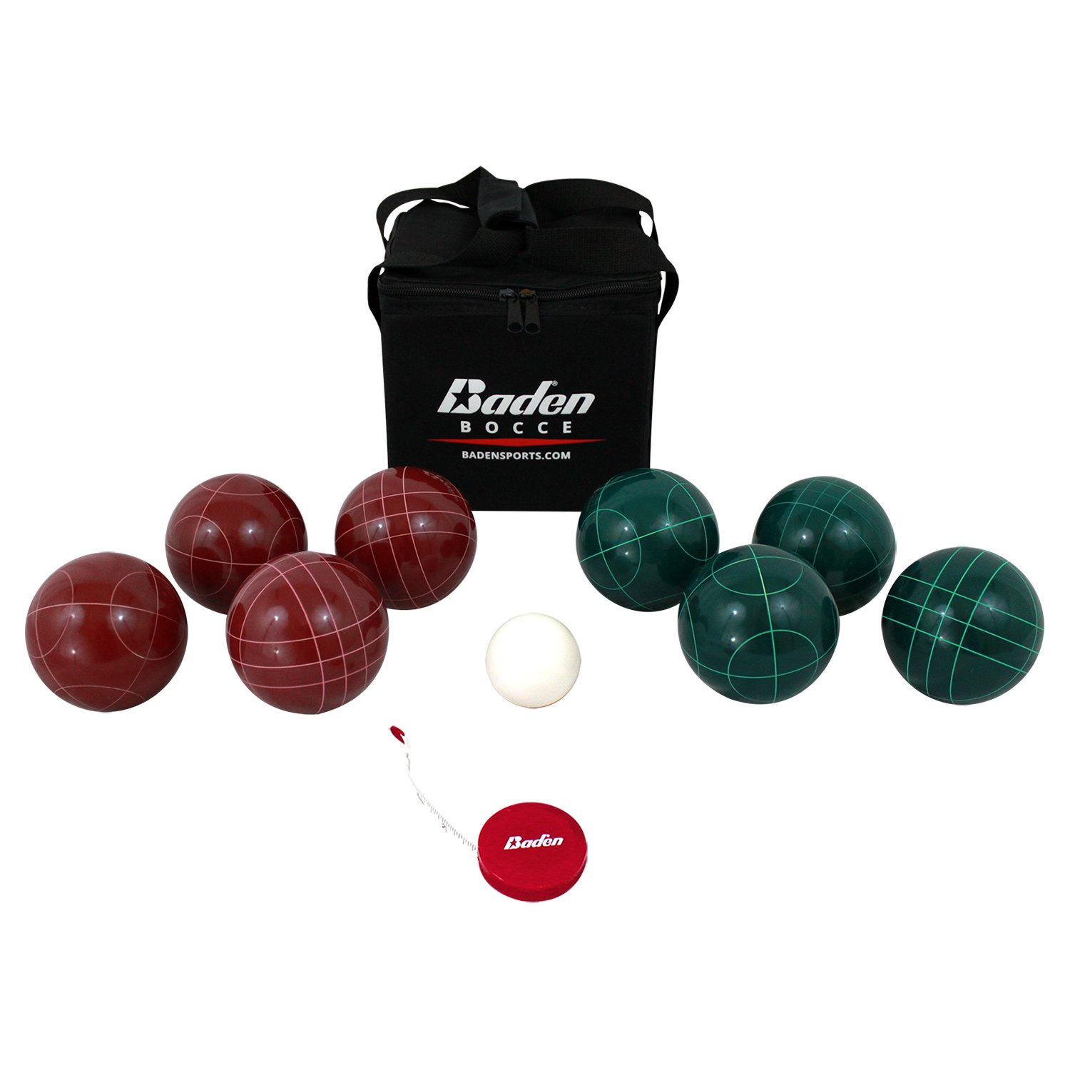 Baden Champions 90mm Bocce Ball Set with Carry Case and Measuring Tape by Baden