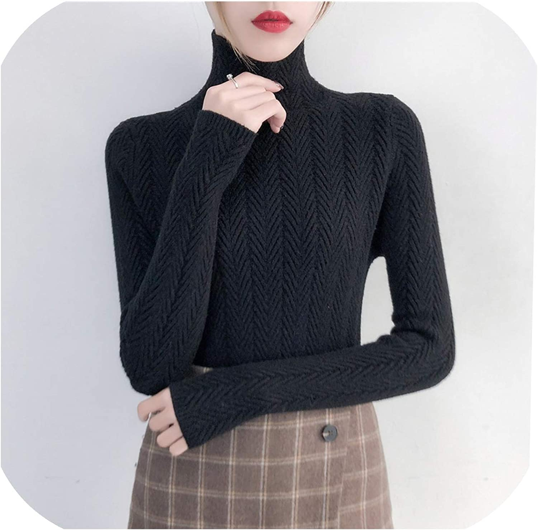 XianYuu Underwear Woman Winter Sweater Slim Bottom Shirt Long Sleeve Tight Knitted Shirt Thickening