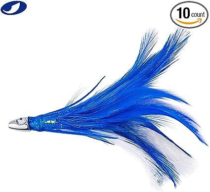 "Kingfish -Pick Color Mahi Boone Mahi Jet 6.5/"" Mono Rigged Trolling Lure Tuna"