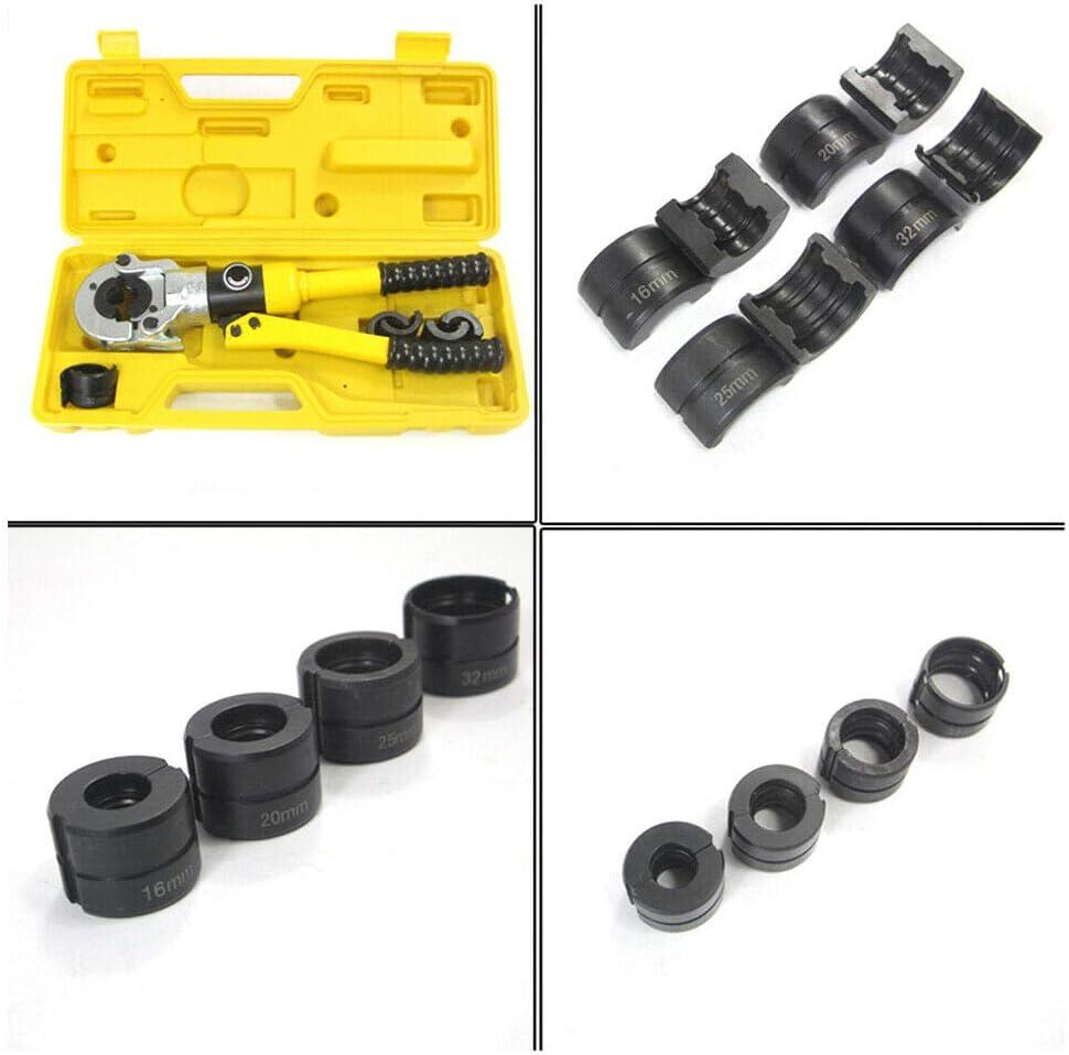 Hydraulische Presszange 16mm 12T Rohr Presszange TH 16-32 Pressbacken 360/° f/ür Verbundrohr und Fittings TH Profil Crimp Rohrpresszange