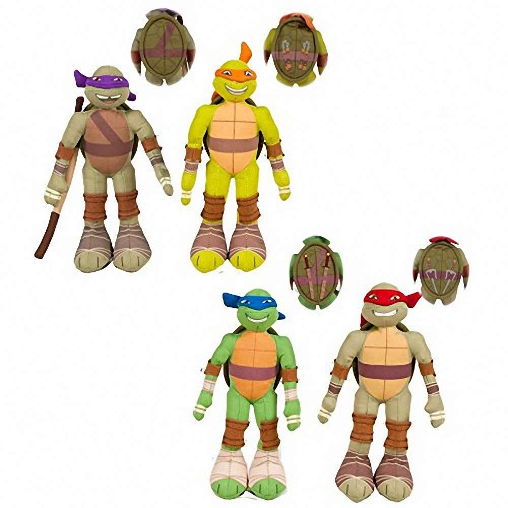 Pack 4 Peluches Tortugas Ninja 20 CM - Leonardo - Raphael ...