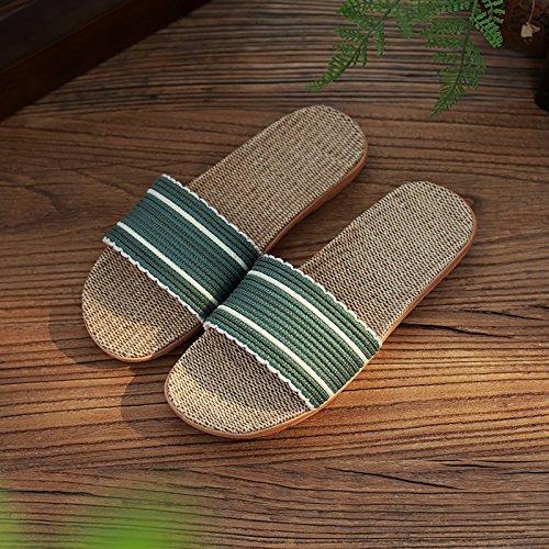 interior con verde2 parejas palabra antideslizante macho fresco zapatillas Zapatillas Lencería permanezca gruesa DogHaccd zapatillas hogar femeninas del verano la verano El 18CRqO