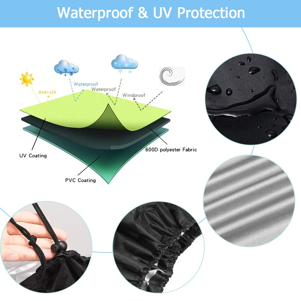 Fits Grills Family Party Convenient BBQ Gas Grill Cover Heavy Duty Waterproof Outdoor Heavy Duty BBQ Barbecue Cover UV Resistant BBQ Cover Durable
