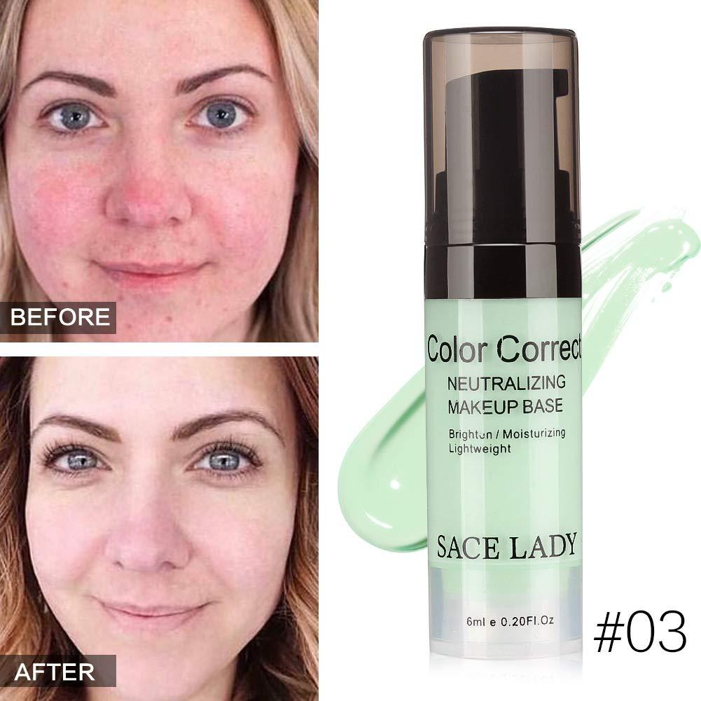 Dkhsy Correcteur Visage Crème Hydratante Correcteur de Couleur Base Primer Fondation de maquillage