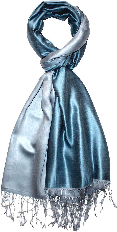 Lorenzo Cana Luxus Pashmina Damenschal Wendeschal 70/% Seide 30/% Viskose Schaltuch 70 x 190 cm zweifarbig Schal Stola Umschlagtuch wendbar Double Face