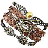 Bracelets et colliers de Harry Potter–but d 'or–Death Hallow