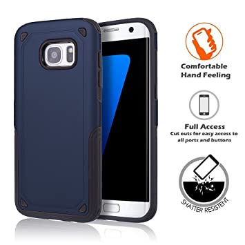 cheap for discount 200ce cfc18 Amazon.com: LIKESEA Samsung Galaxy S7 Case, Slim armor Hybrid ...