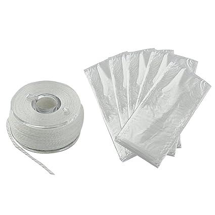 50PCS PVA Water Soluble Tape Bag Fishing Tackle Carp Bait Dissolving Bag Tackle~
