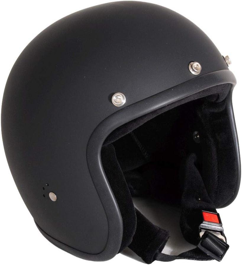 Gr/ö/ße:XS Sports-Farbe:matt schwarz Bandit Helm Jet matt Jethelm kleine leichte Bauweise bequem Biker neu 54cm