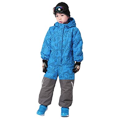 23995f8c3 Amazon.com  Wowu One Piece Boys Snowsuit Ski Suit Snow Insulated ...