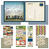 Scrapbook Customs Themed Paper and Stickers Scrapbook Kit, Alaska Vintage